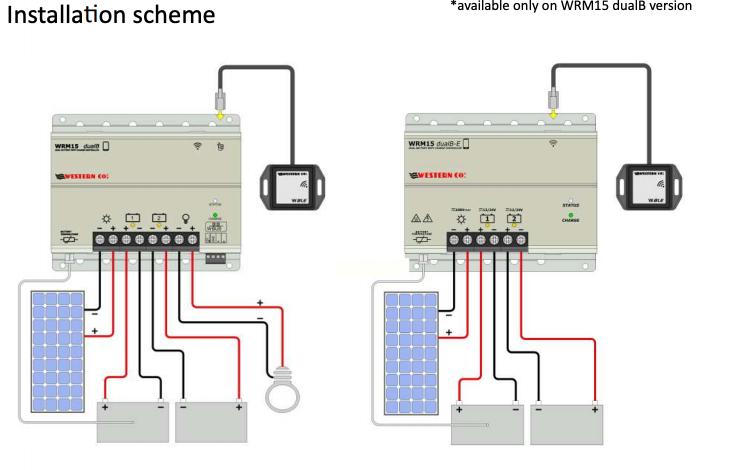 Schermata 2020 07 17 alle 11.14.20 Regolatore Western co WRM15 DualB E 15A mppt x due Batterie app. smartphone Ryanenergia