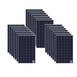 Kit 6KWp Moduli Policristallini 285Wp 5 busBar 60 celle E solar M