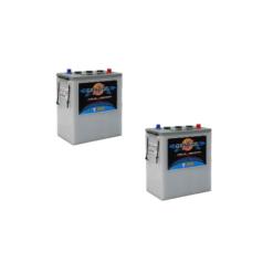 Banco Batteria 12V Piastra Corazzata Tubolare NBA Maxima C20 350Ah 6V X Fotovoltaico 1200cicli