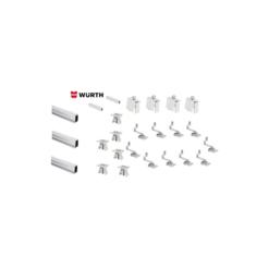 Kit Montaggio Completo Tetto Inclinato 5 Moduli WURTH staffe montaggio