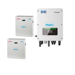 KIT WECO completi di Inverter Ibrido + batteria 10KWh Litio Ferro Fosfato GRAFENE + Cavi