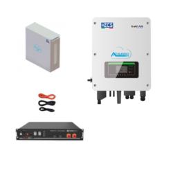 KIT Ibrido Inverter Zucchetti + batteria Pylontech 2,4KWh Litio + Cavi + Box 2 batterie
