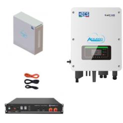 KIT Retrofit Inverter 3Kw Zucchetti + batteria Pylontech 2,4KWh Litio + Cavi