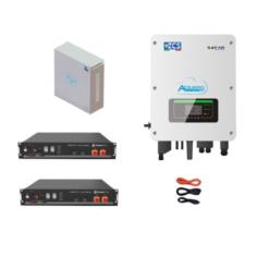 KIT Ibrido Inverter Zucchetti + batteria Pylontech 4,8KWh Litio + Cavi + Box 2 batterie