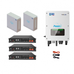 KIT Ibrido Inverter Zucchetti + batteria Pylontech 7,2KWh Litio + Cavi + Box 4 batterie