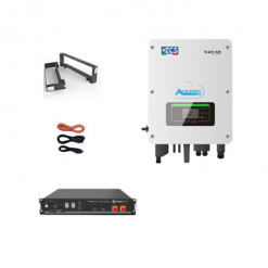 KIT Ibrido Inverter 3Kw Zucchetti + batteria Pylontech 2,4KWh Litio + Cavi + Staffe