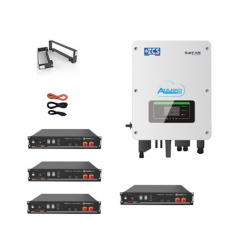 KIT Ibrido Inverter 3Kw Zucchetti + batteria Pylontech 9,6KWh Litio + Cavi + Staffe