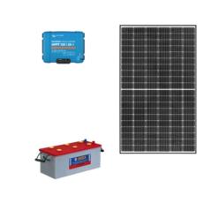 Kit Solare Isola 355Wp regolatore mppt Victron Energy SmartSolar 30A Pannello qcells G8 monocristallino batteria 200Ah NBa