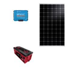 Kit Solare Isola 305Wp regolatore mppt Victron Energy SmartSolar 30A Pannello Talesun monocristallino batteria 200Ah Zenith