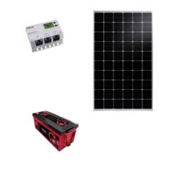 Kit Solare Isola 305Wp regolatore mppt Western co WRM20 20A Pannello Talesun monocristallino batteria 200Ah Zenith