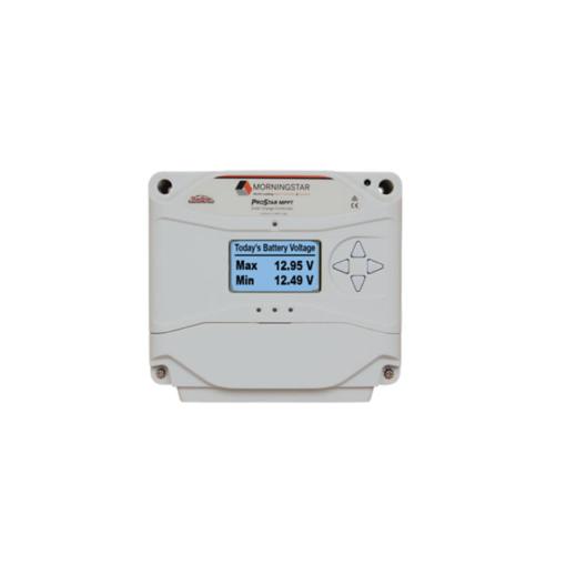 Regolatore di Carica Morningstar ProStar 12-24V 25A MPPT con Monitor centralina Solare