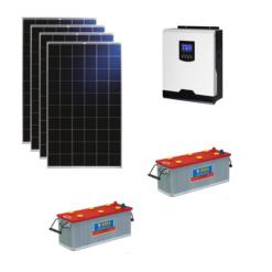 Kit Solare Isola 1120Wp Inverter 220V 1Kw 12V regolatore mppt batteria 400Ah NBA Pannelli 280W Policristallini