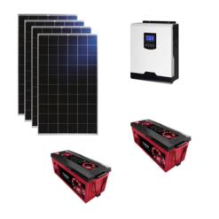 Kit Solare Isola 1120Wp Inverter 220V 1Kw 12V regolatore mppt batteria 400Ah ZENITH Pannelli 280W Policristallini