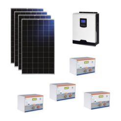 Kit Solare Isola 1120Wp Inverter 220V 1Kw 12V regolatore mppt batteria condesatori 2Kwh Pannelli 280W Policristallini