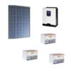 Kit Solare Isola 1050Wp Inverter 220V 1Kw 12V regolatore mppt batteria condesatori 1,5Kwh Pannelli 350W Policristallini