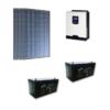 Kit Solare Isola 1400Wp Inverter 220V 3Kw 24V regolatore mppt batteria Gel 400Ah Pannelli 350W Policristallini