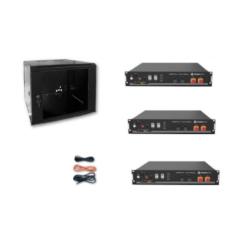 Kit Accumulo Armadio 9U + Batterie Pylontech US2000B plus batteria litio 48V 7,2Kwh + cavi
