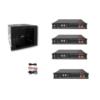 Kit Accumulo Armadio 9U + Batterie Pylontech US2000B plus batteria litio 48V 9,6Kwh + cavi