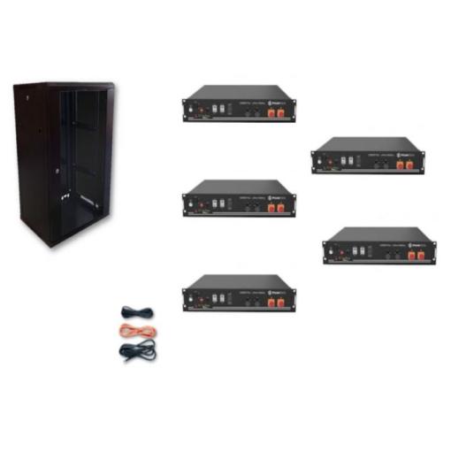 Kit Accumulo Armadio 24U + Batterie Pylontech US2000B plus batteria litio 48V 24Kwh + cavi
