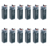 Banco Batteria Opzs 100Ah 24V Faam 2STA55-2 deep cycle ciclica made in Italy top di gamma