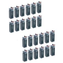 SBanco Batteria Opzs 600Ah 48V Faam 6STA100-2 deep cycle ciclica LONG LIFE made in Italy top di gamma