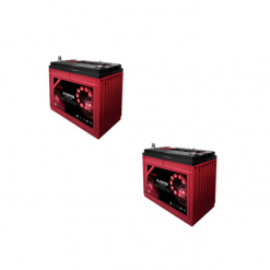 Banco Batteria 140Ah 24V deep cycle ciclica Zenith Agm zl1201106 x Fotovoltaico
