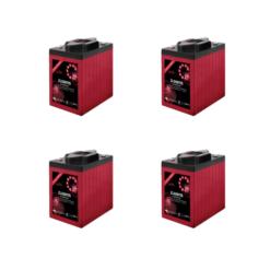 Banco Batteria 12V 490Ah deep cycle ciclica Zenith Agm zl060115 6V x Fotovoltaico
