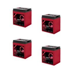 Banco Batteria 480Ah 12V deep cycle ciclica Zenith Agm ZL060113 6V x Fotovoltaico
