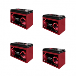Banco Batteria 12V 400Ah 6V deep cycle ciclica Zenith Agm ZL060100 x Fotovoltaico