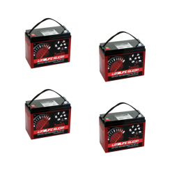 Banco Batteria Silicone 240Ah 24V deep cycle ciclica 1200cicli Zenith Agm ZLS120190 x Fotovoltaico