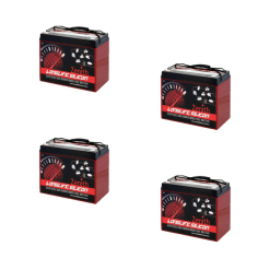 Banco Batteria Silicone 210Ah 24V deep cycle ciclica 1200cicli Zenith Agm ZLS120185 x Fotovoltaico