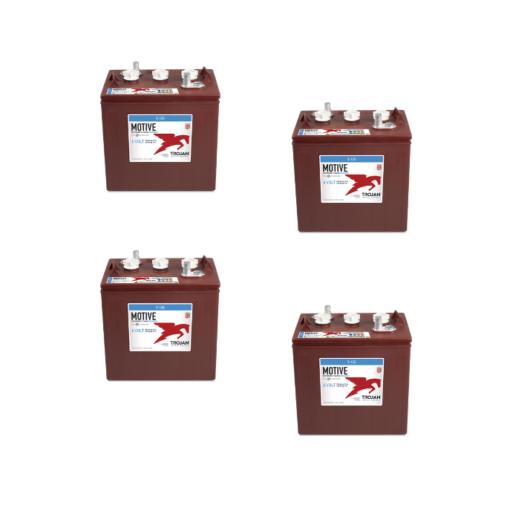Banco Batteria 12V 210Ah Trojan deep cycle ciclica 1200cicli T105+ acido libero x Fotovoltaico