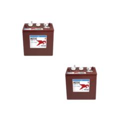 Banco Batteria 12V 125Ah Trojan deep cycle ciclica 1200cicli TR125 acido libero x Fotovoltaico
