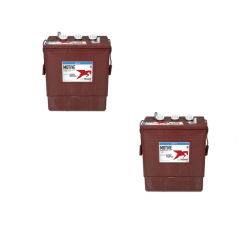 Banco Batteria 12V 315Ah Trojan deep cycle ciclica 1200cicli J305G-AC acido libero x Fotovoltaico
