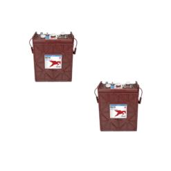 Banco Batteria 12V 330Ah Trojan deep cycle ciclica 1200cicli J305P-AC acido libero x Fotovoltaico