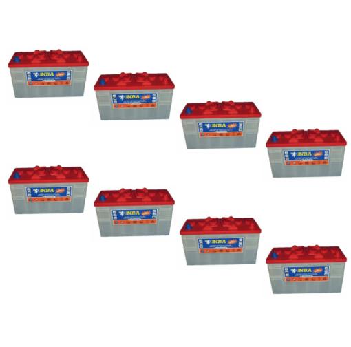 Banco Batteria 420Ah 24V Piastra Corazzata Tubolare NBA 4AX12N C20 X Fotovoltaico