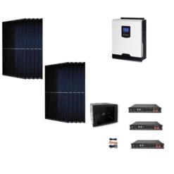 Kit Solare Isola Baita 4kw Inverter 3KW con regolatore 60A mppt Modulo Monocristallino 310W batteria Litio Pylontech