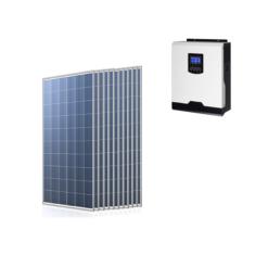Kit Solare Isola Baita 3,135kwp Inverter 3KW con regolatore 60A mppt Modulo Policristallino 285W