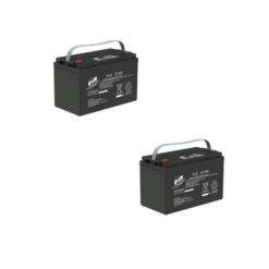Banco Batteria 200Ah 12V Stazionaria Faam Gel Flg100-12 x uso Fotovoltaico