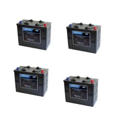 Banco Batteria 280Ah 24V LUMINOR 12Volt LDCG12-140 x uso Fotovoltaico