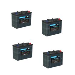 Banco Batteria 180Ah 24V LUMINOR 12Volt LDCG12-90 x uso Fotovoltaico