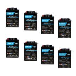 Banco Batteria gel 440Ah 24V LUMINOR LDCG6-220 x uso Fotovoltaico ciclica