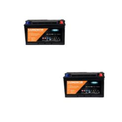Banco Batteria 210Ah 12V Piastra Piana Luminor LTL12-105 105A deep cycle X Fotovoltaico