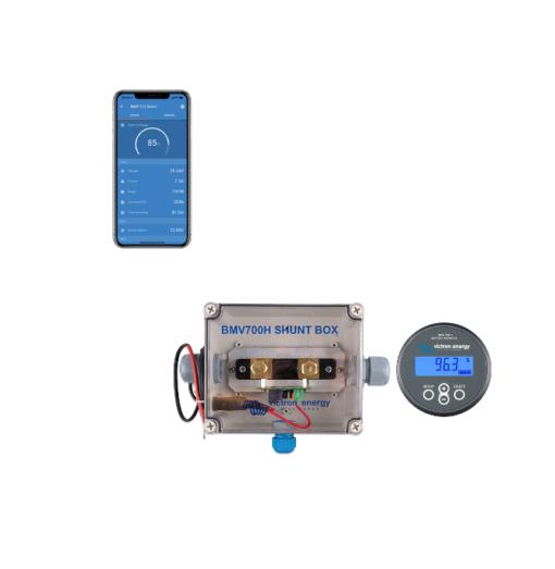 Dispositivo Controllo Batterie Monitor Victron Energy BMV-700H Bluetooth integrato