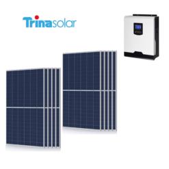Kit Solare Isola Baita 3,190kwp Inverter 3KW con regolatore 60A mppt Modulo Policristallino 290W TRINA SOLAR