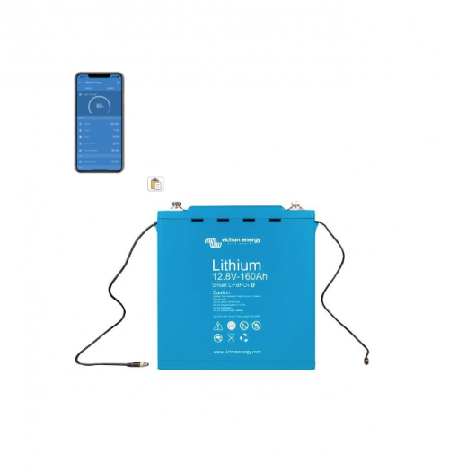 Batteria LiFePO4 battery 12,8V 160Ah Smart 12V Victron Energy Litio