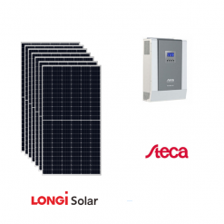Kit Solare 3Kwp Pannello Solare 435Wp Longi Solar Inverter Steca Mppt PLI 5000-48 48V
