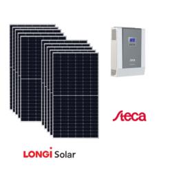 Kit Solare 4,3Kwp Pannello Solare 435Wp Longi Solar Inverter Steca Mppt PLI 5000-48 48V