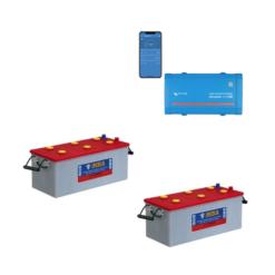 Kit Inverter Victron Energy Phoenix VE.Direct 12V 250VA onda pura 12/250 Batteria 400Ah Nba