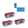 Kit Inverter Victron Energy Phoenix VE.Direct 12V 1000W onda pura 12/1200 Batterie 600Ah Nba